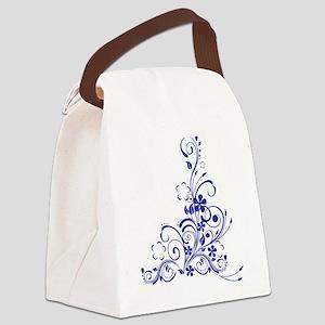 BLUE SWIRLS [3] Canvas Lunch Bag